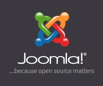 Joomla 3D Vertical logo dark background tagline en